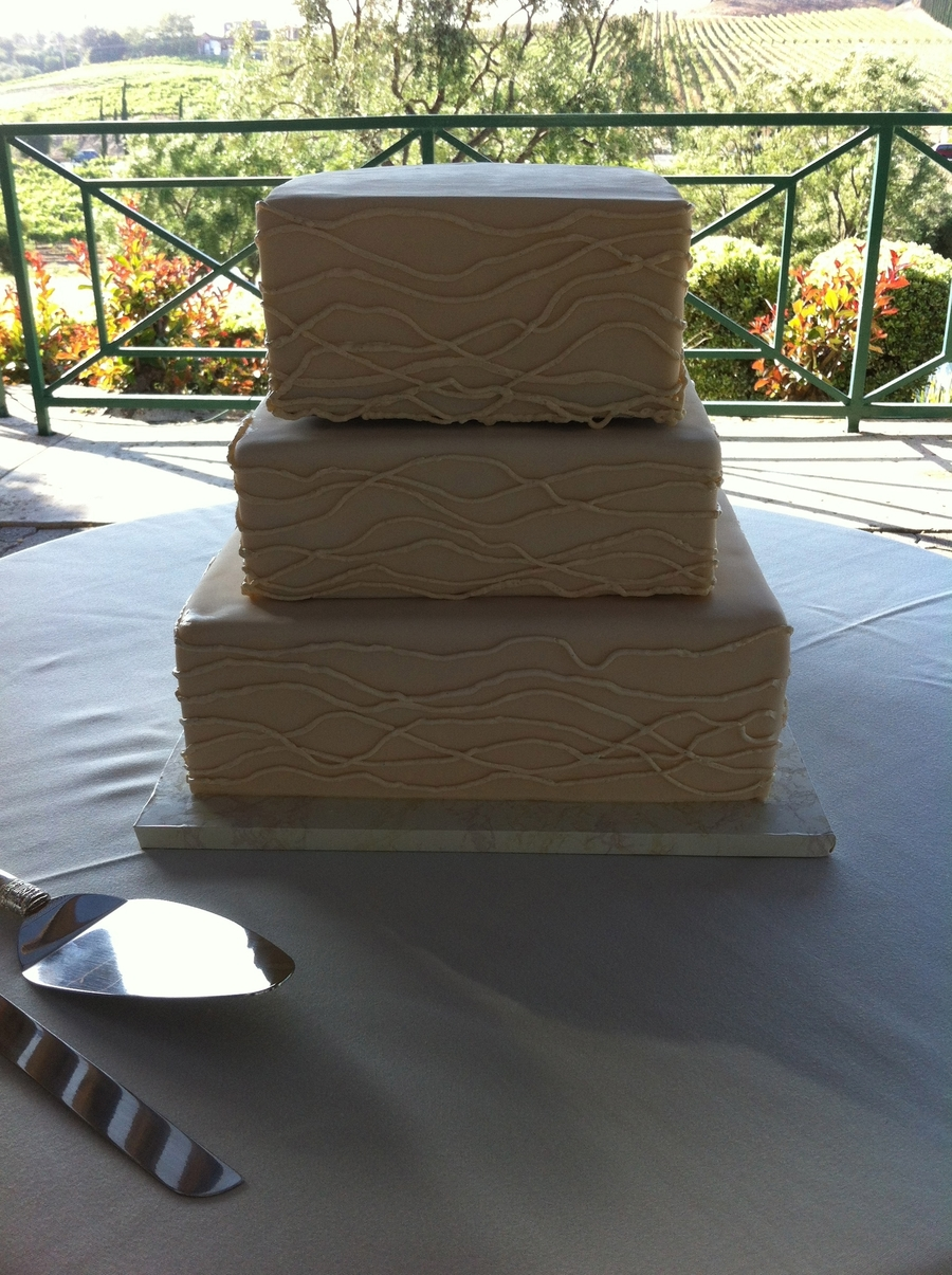 White Square Wedding on Cake Central