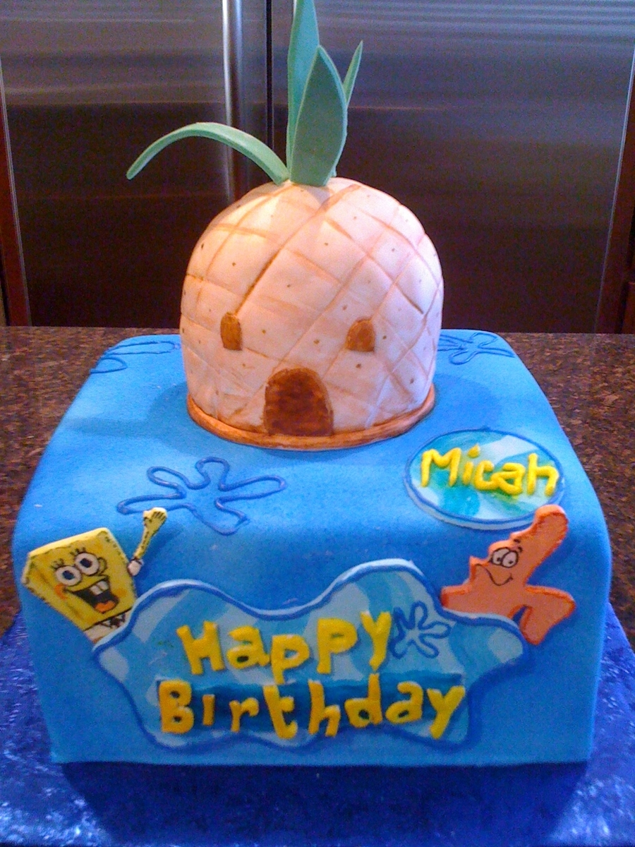 Sponge Bob Birthday  on Cake Central