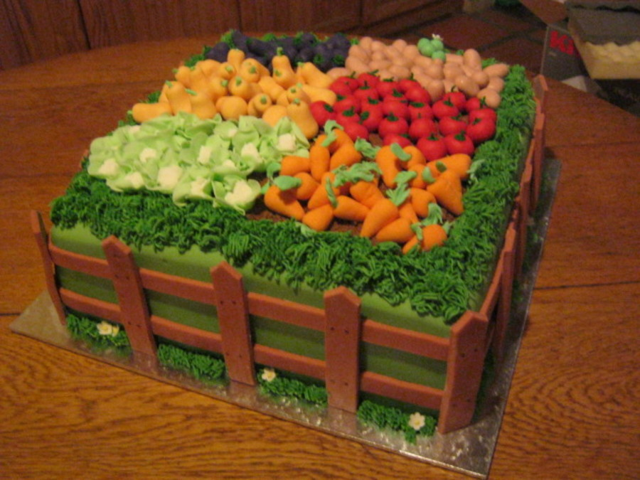 Vegetable Garden Cake Cakecentral