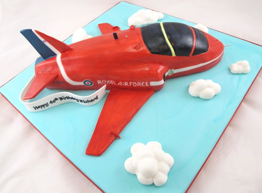 Red Arrow Plane Carved Birthday Cake Cakecentral