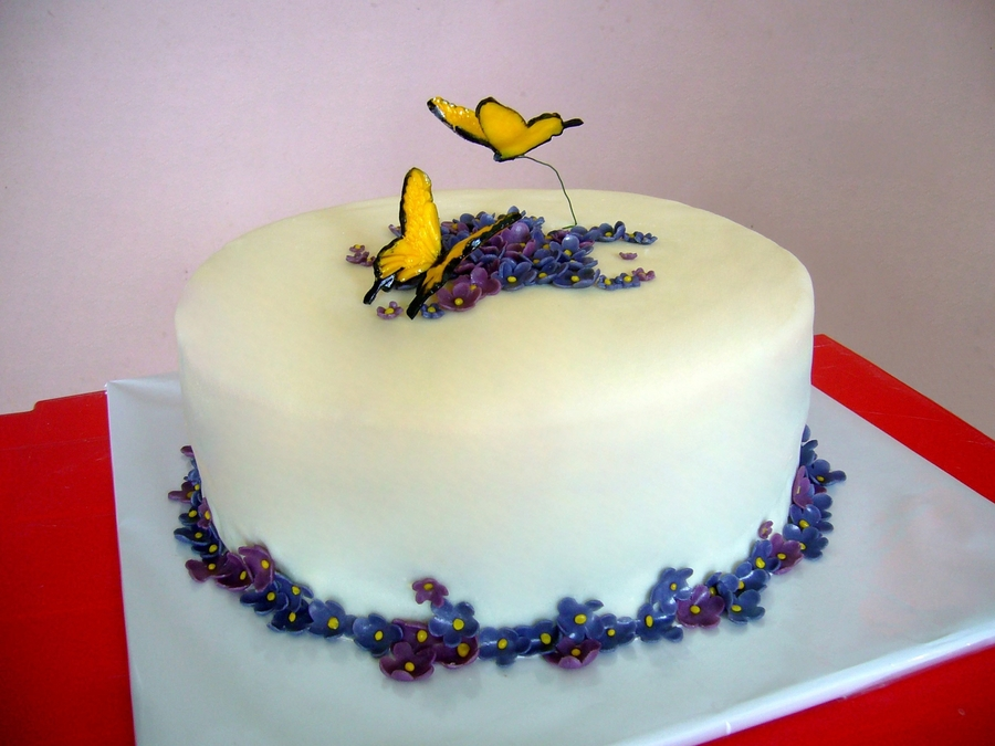 Butterflies To Violets on Cake Central