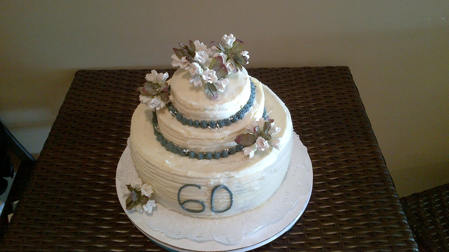 My Mom's 60Th Bday Cake! on Cake Central