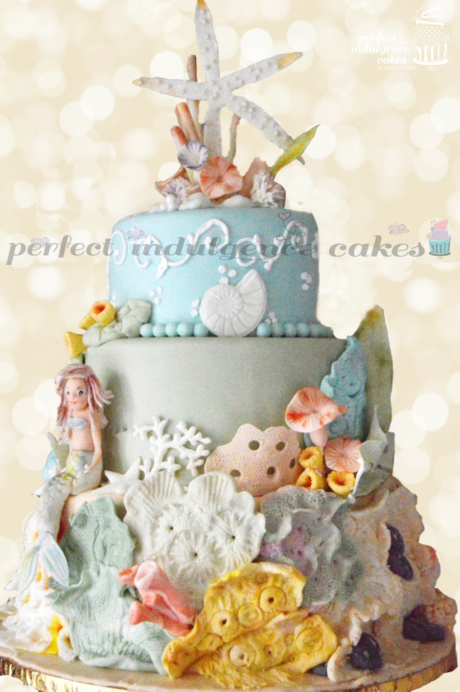 Under The Sea Birthday Cake Inspired By The Magic Of The Sea Created