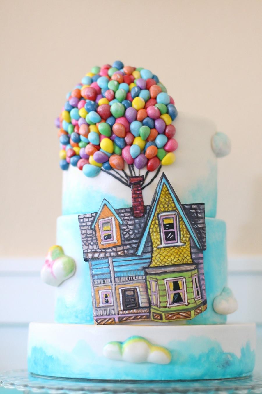 Up House Balloons Up Themed Cake A Billion Tiny Hand Made Fondant Balloons Hand