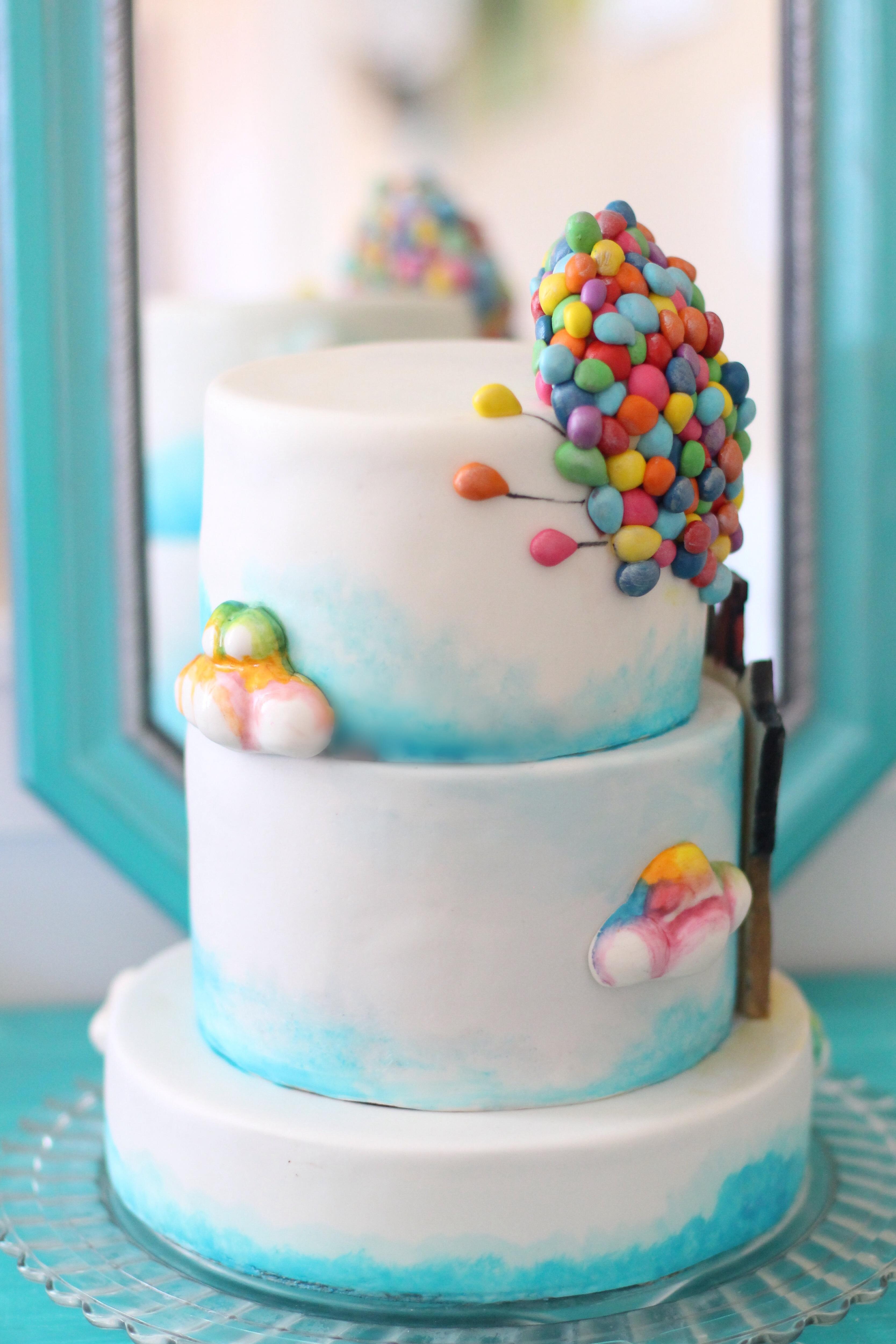 Up Themed Cake A Billion Tiny Hand Made Fondant Balloons Hand ...