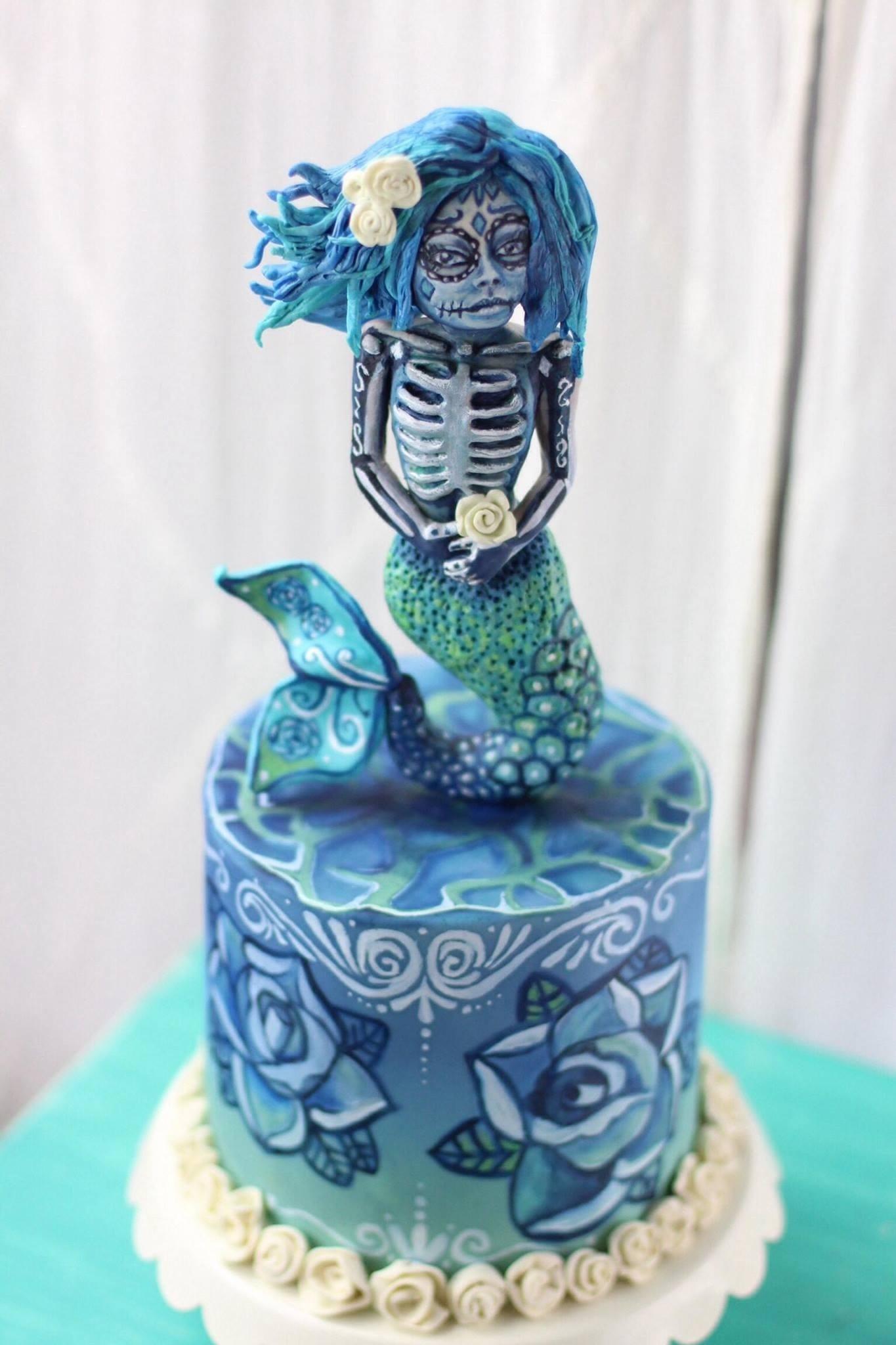 Sugar Skull Mermaid Cakecentral Com