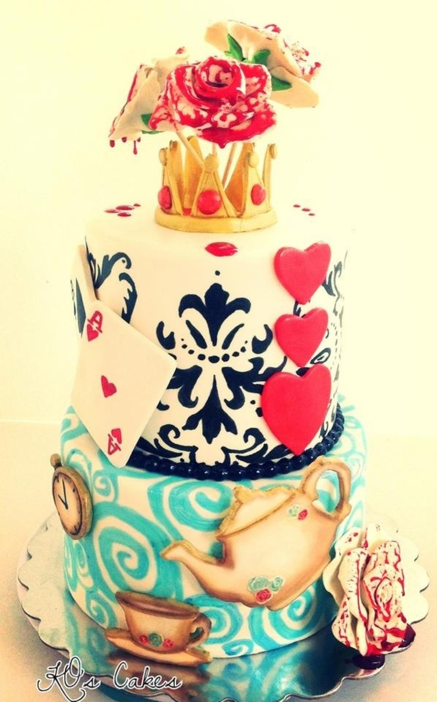 Alice In Wonderland Inspired 16th Birthday Cake Fondant