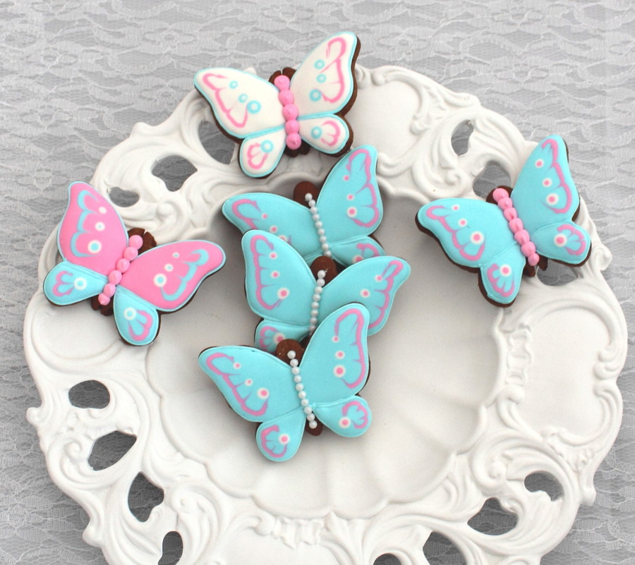 Marbled Gingerbread Butterfly Cookies on Cake Central