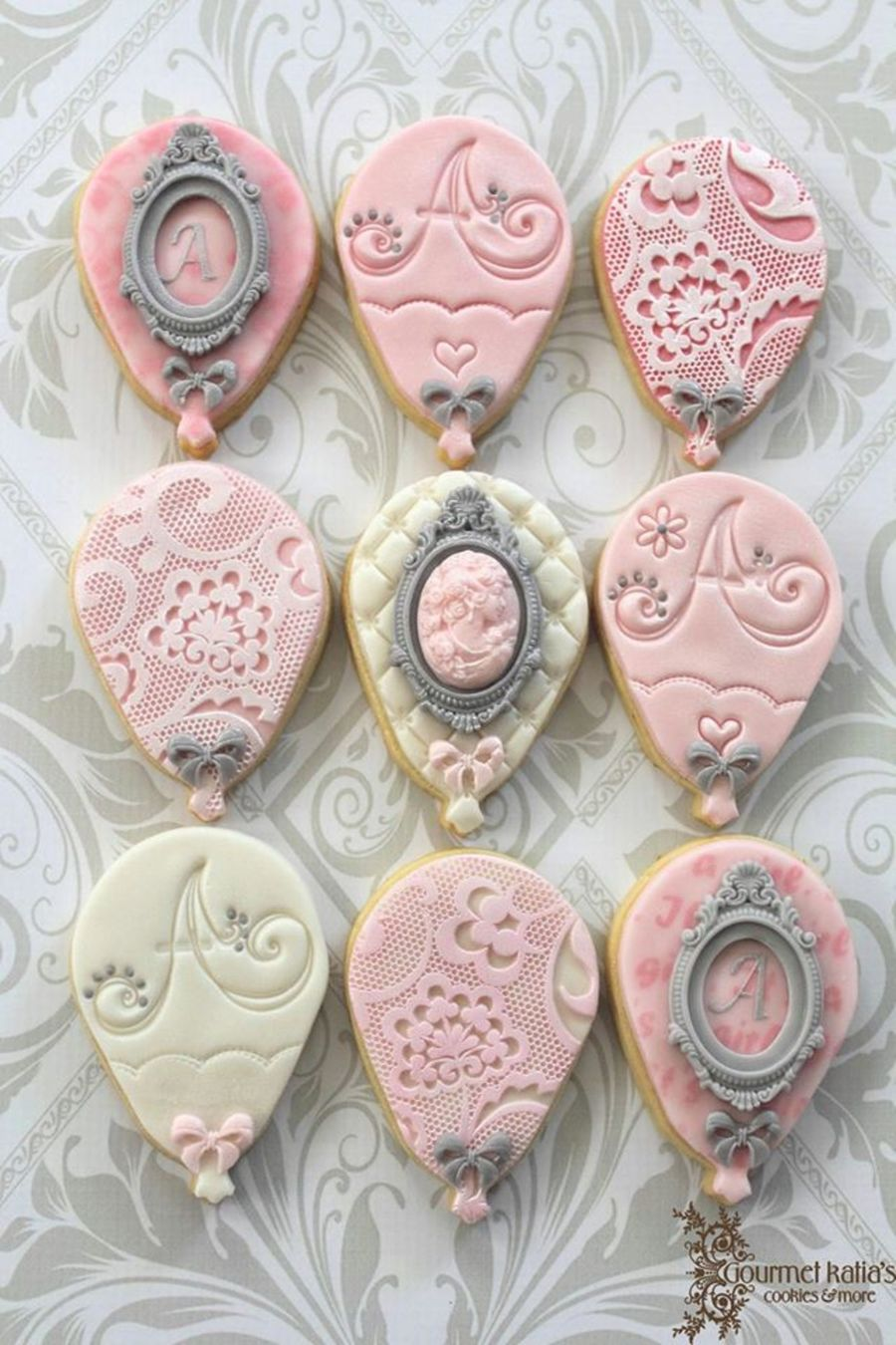 Shabby Chic Balloons! on Cake Central