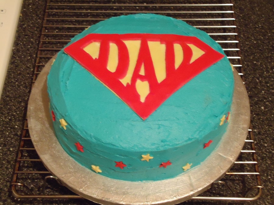 Outstanding Super Dad Birthday Cake Cakecentral Com Funny Birthday Cards Online Elaedamsfinfo