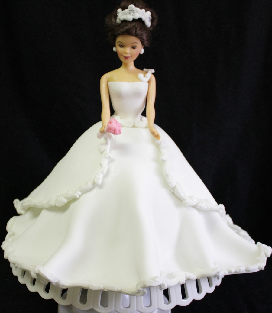 doll wedding cake wedding doll cake cakecentral 13693