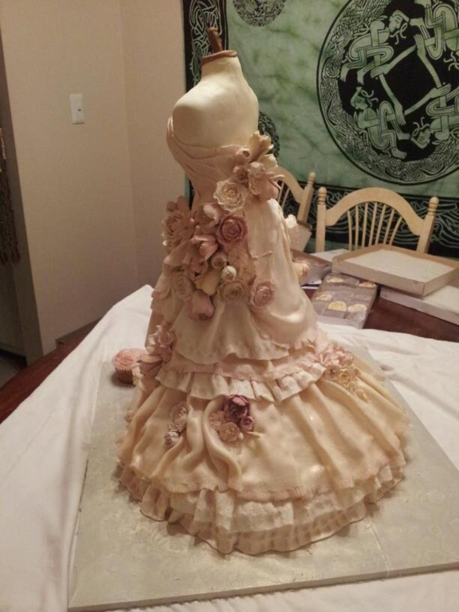 Wedding Dress Cake Cakecentral Com