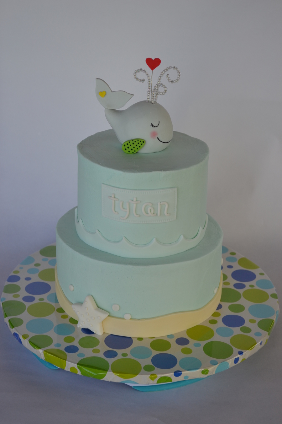 Whale Baby Shower Cake on Cake Central