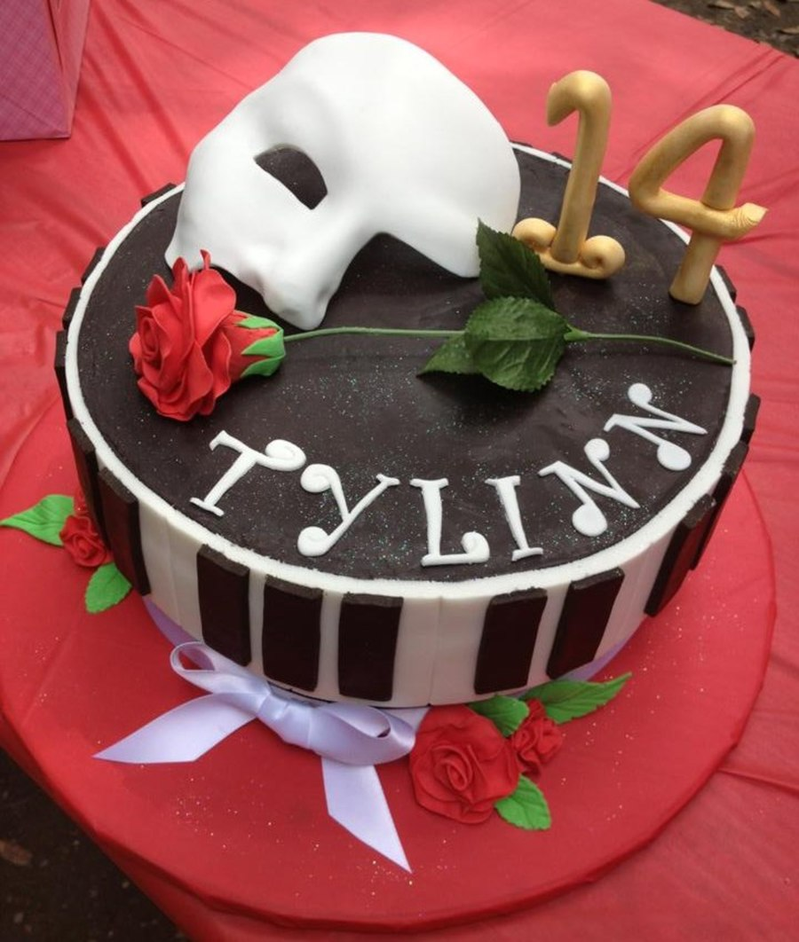 Phantom Of Opera Birthday Cake CakeCentralcom