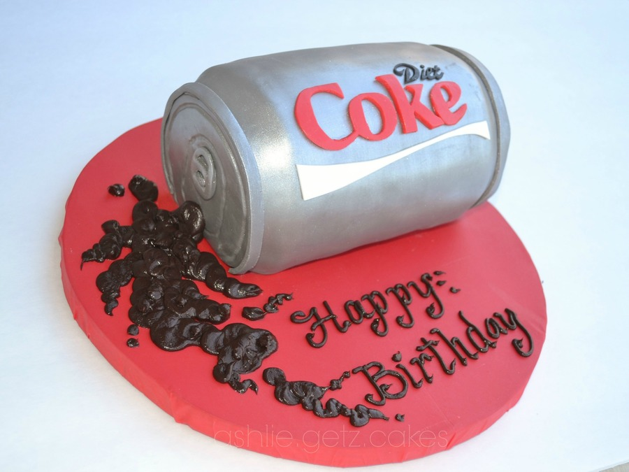 Diet Coke Can Cake - CakeCentral.com