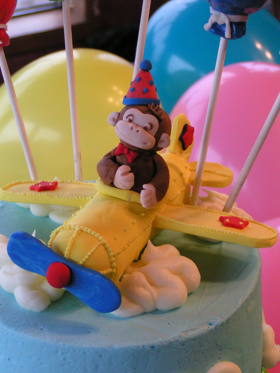 Curious George Cake Topper Tutorial