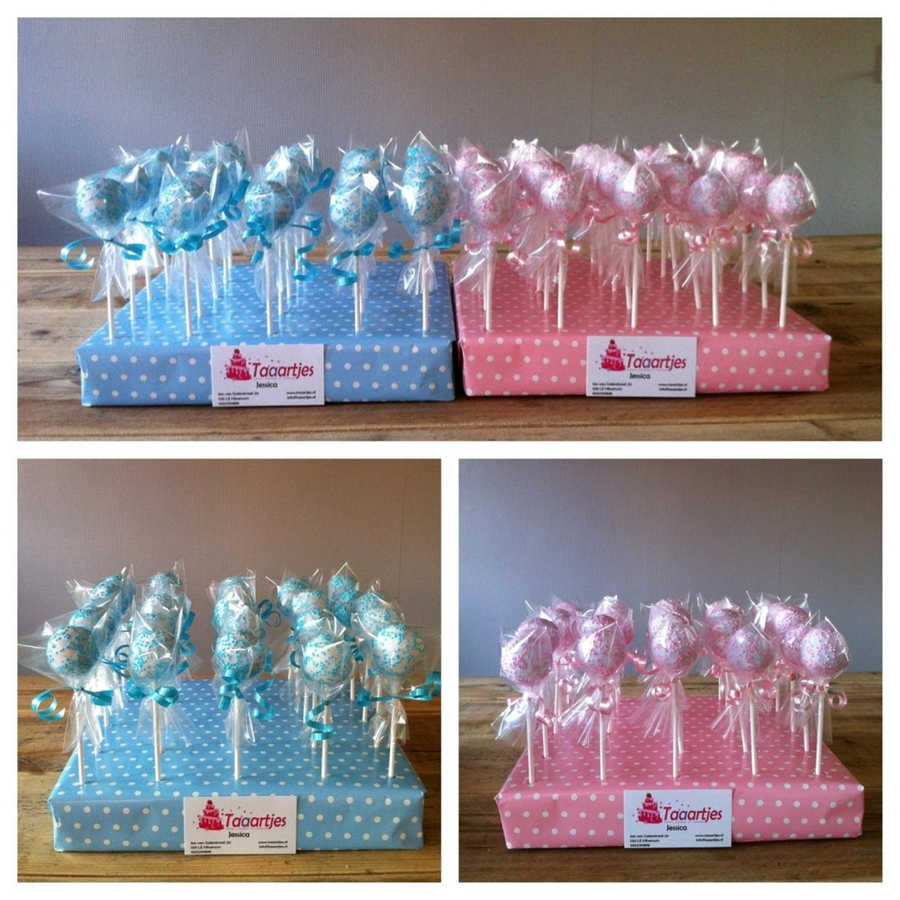 Cake Pops For A Girl Baby Shower