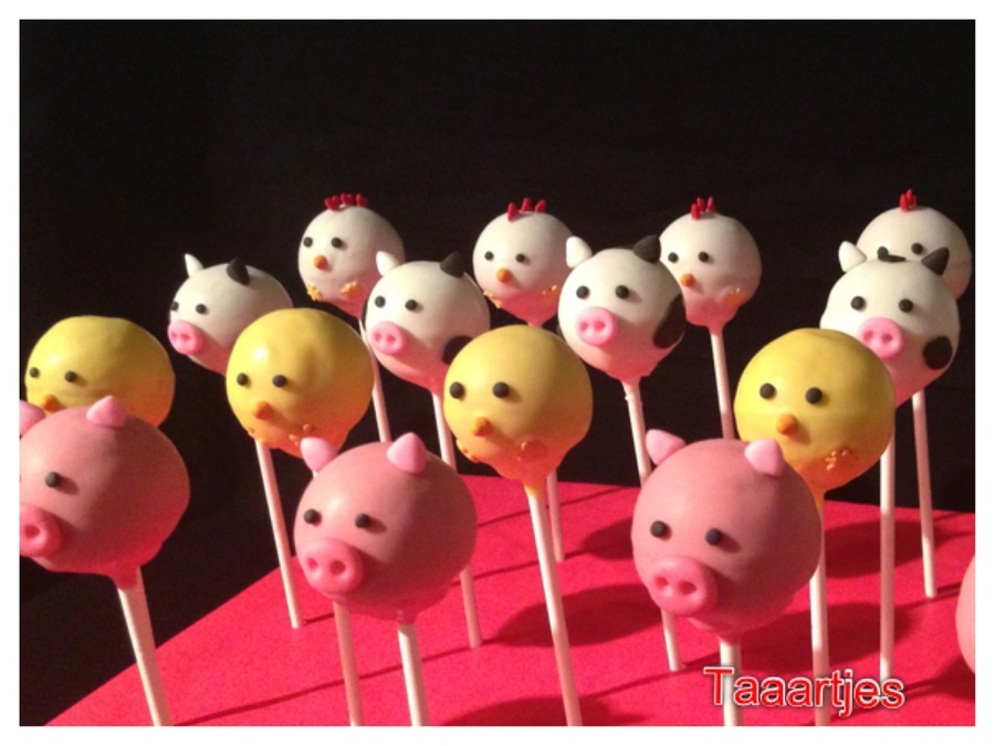 Farm Cake Pops on Cake Central
