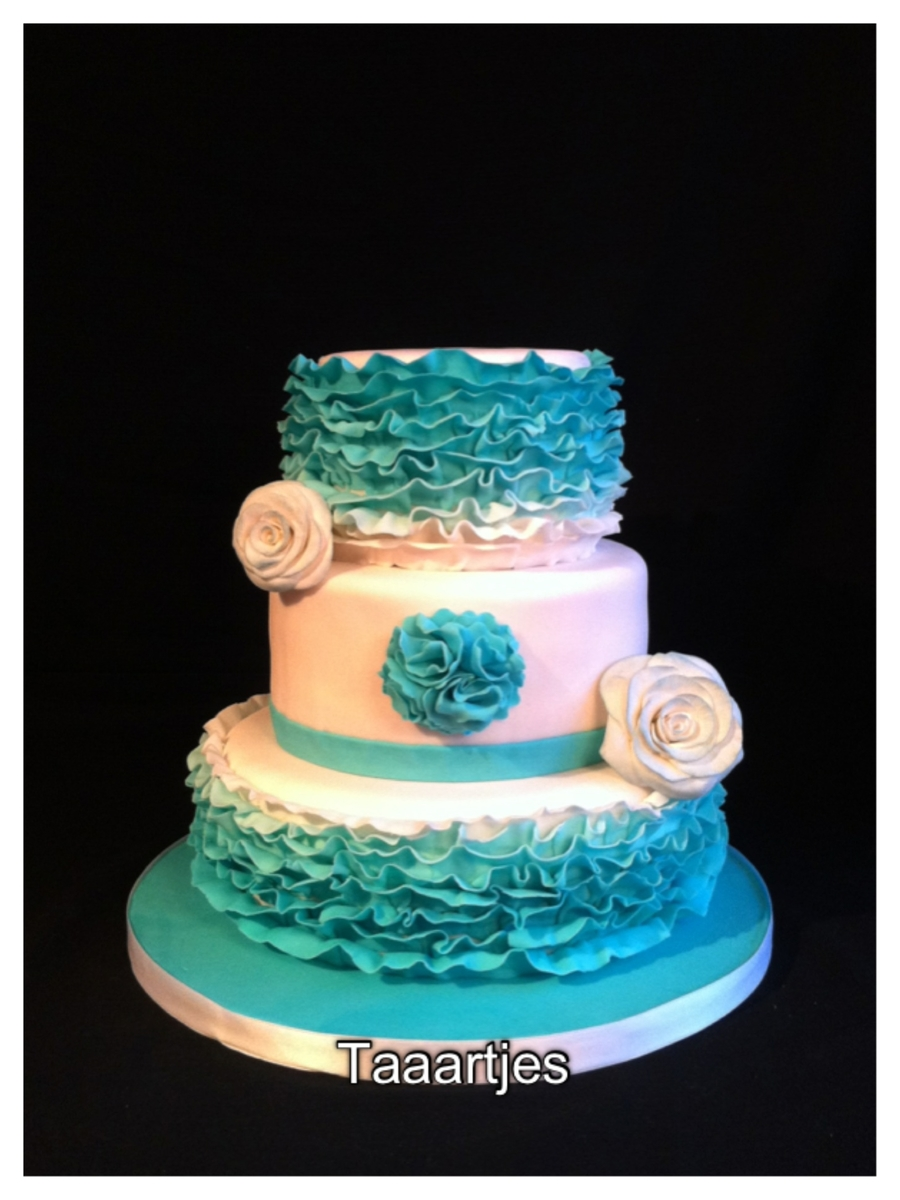 Wedding Cake Turquiose on Cake Central