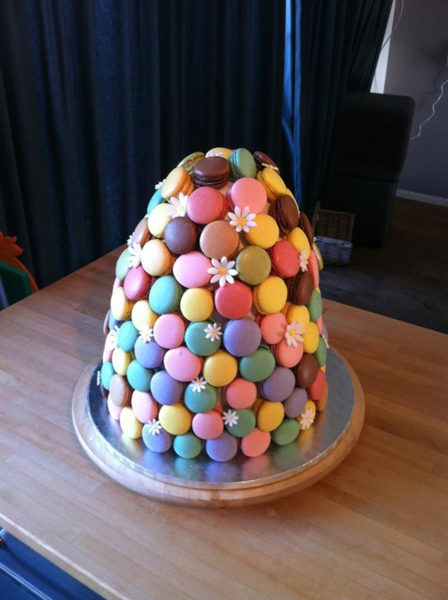 Macaron Tower Cake on Cake Central