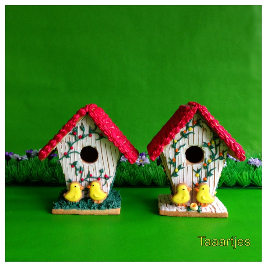 Spring Cookie Houses on Cake Central
