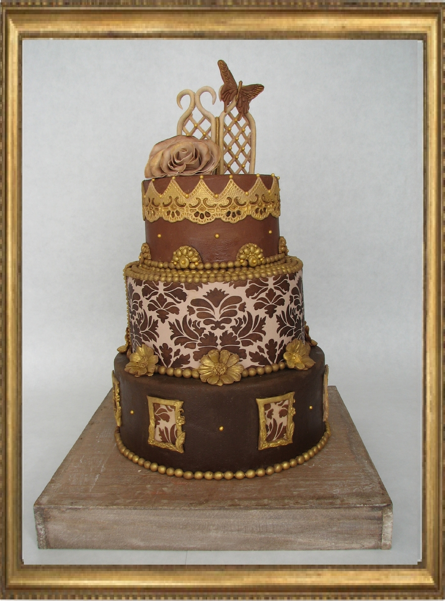 Brown And Gold on Cake Central