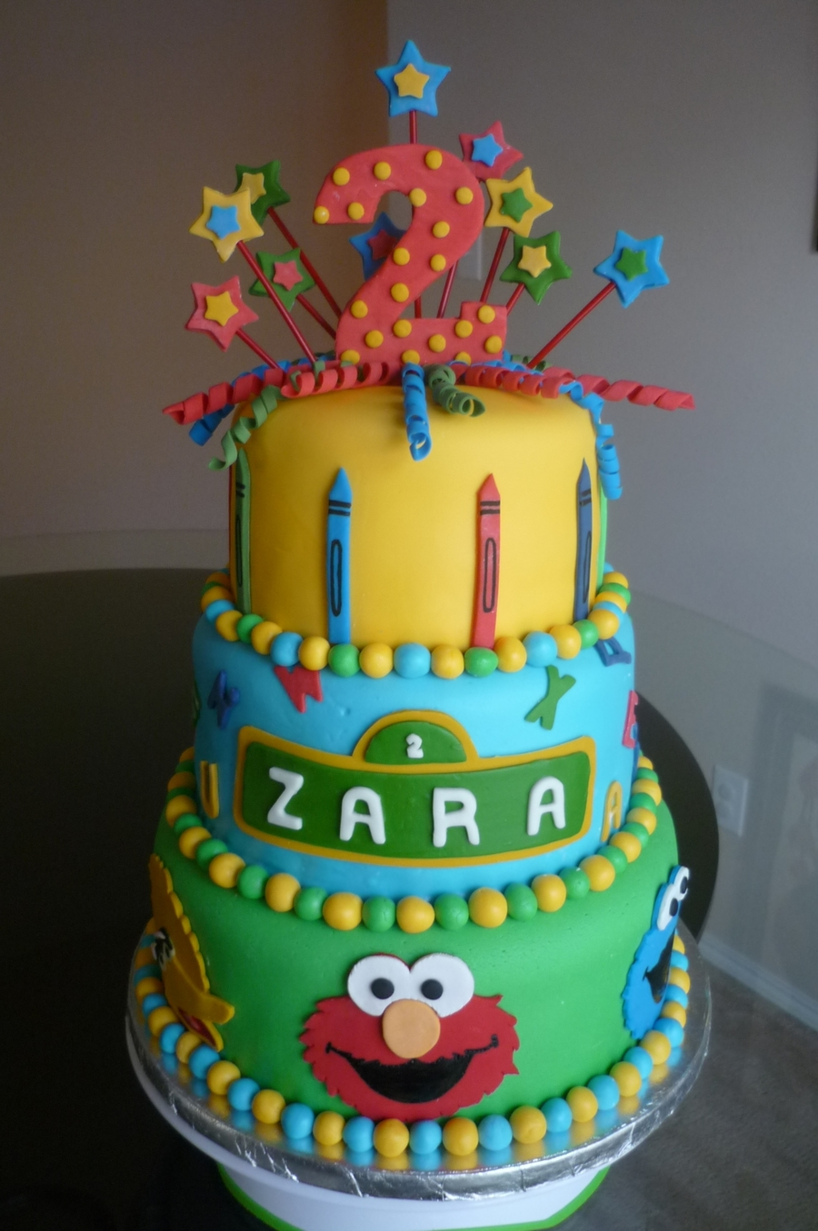 Sesame Street Theme Cake on Cake Central
