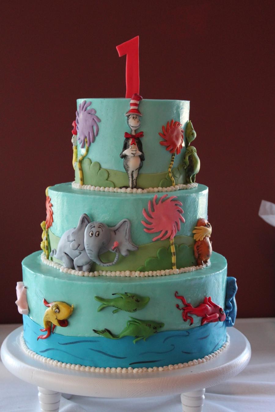 Dr Seuss First Birthday Cakecentral Com