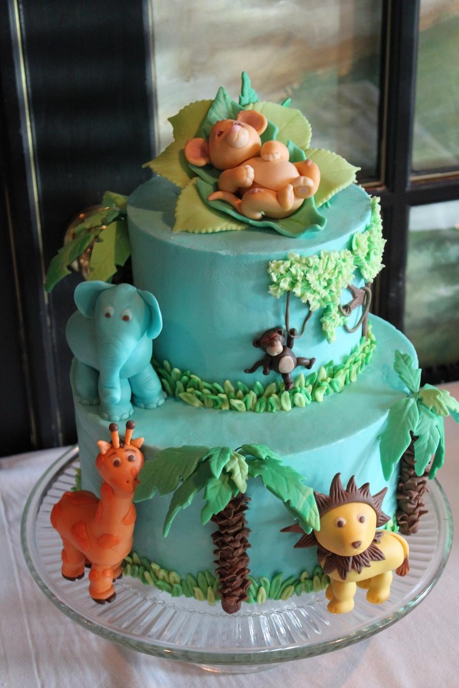 Jungle Baby Shower Cakecentral Com