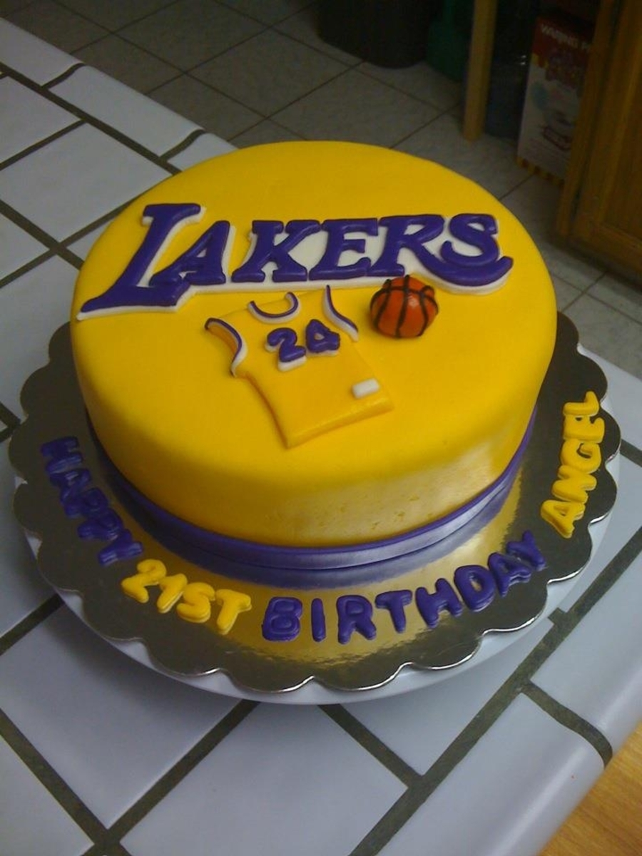 Lakers 21st Birthday Cake Cakecentral