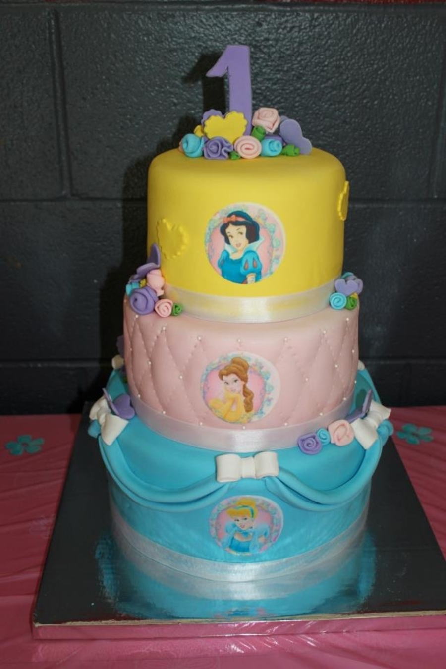 Disney Princess 1St Birthday Cake - CakeCentral.com