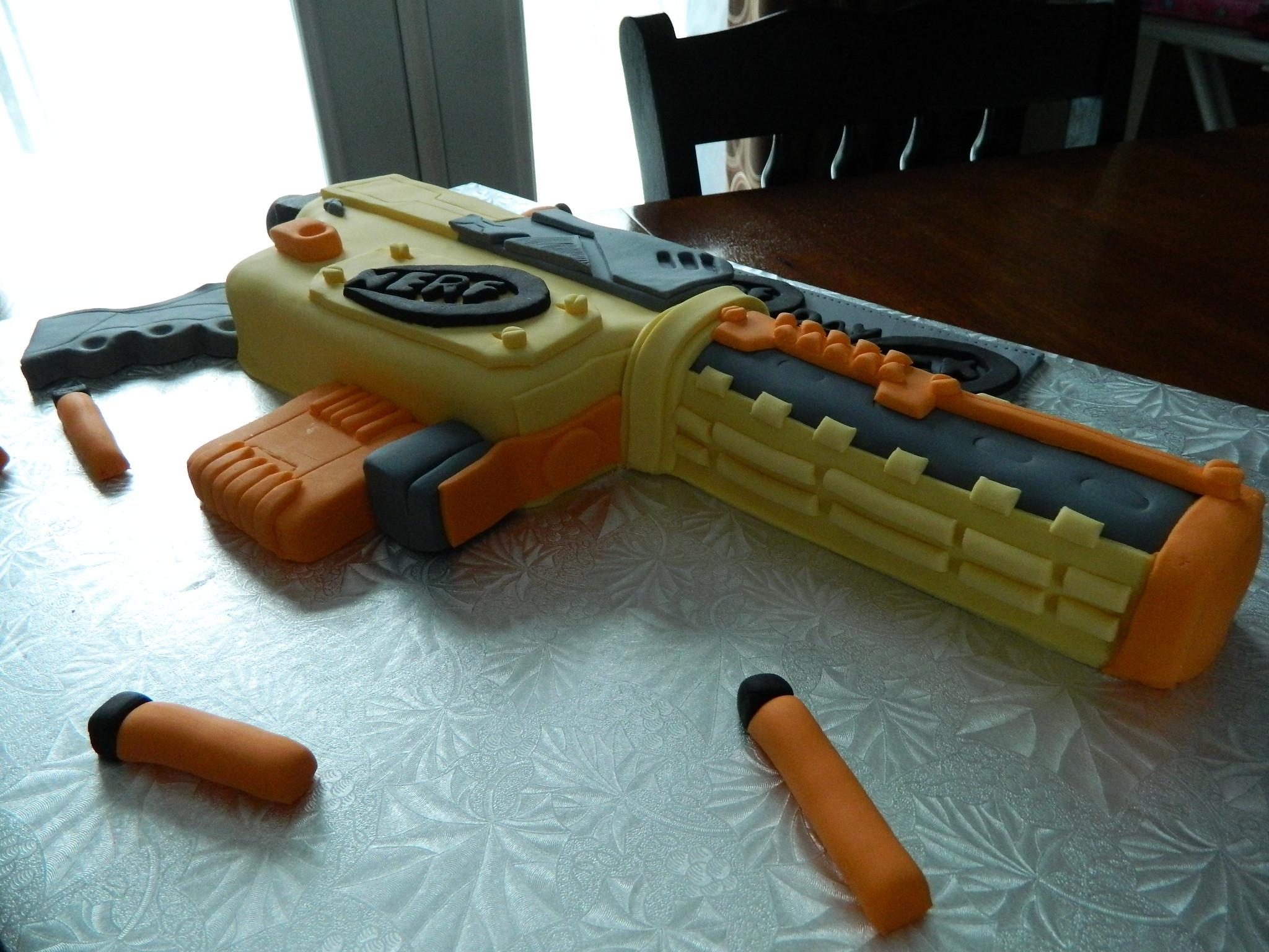 Nerf Gun Birthday Cake Cakecentral Com