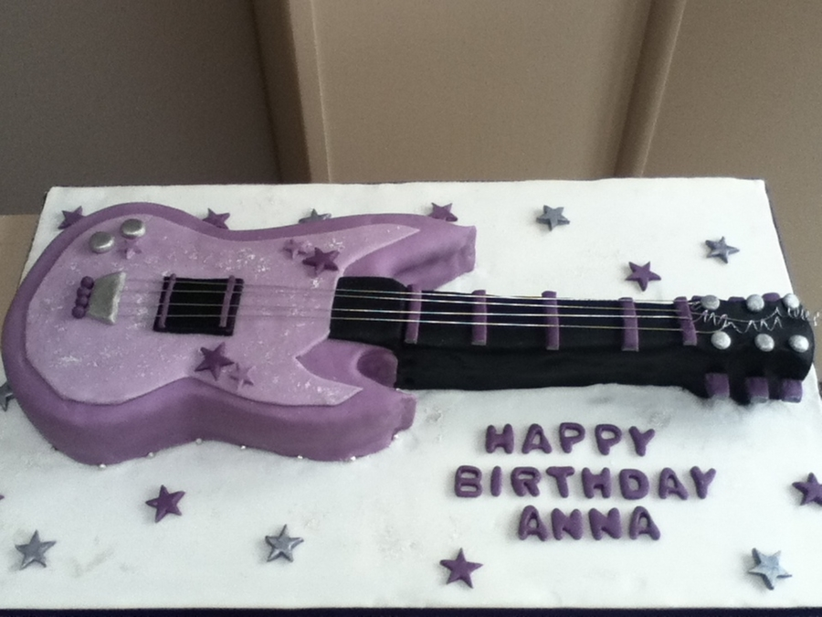 Rock Chick Guitar  on Cake Central