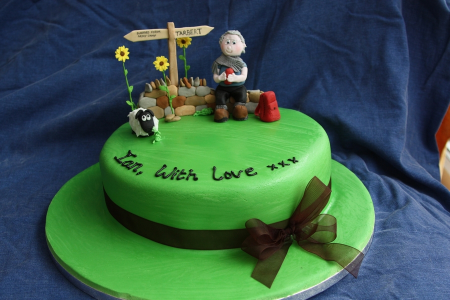 80Th Birthday Cake For A Walker Rambler