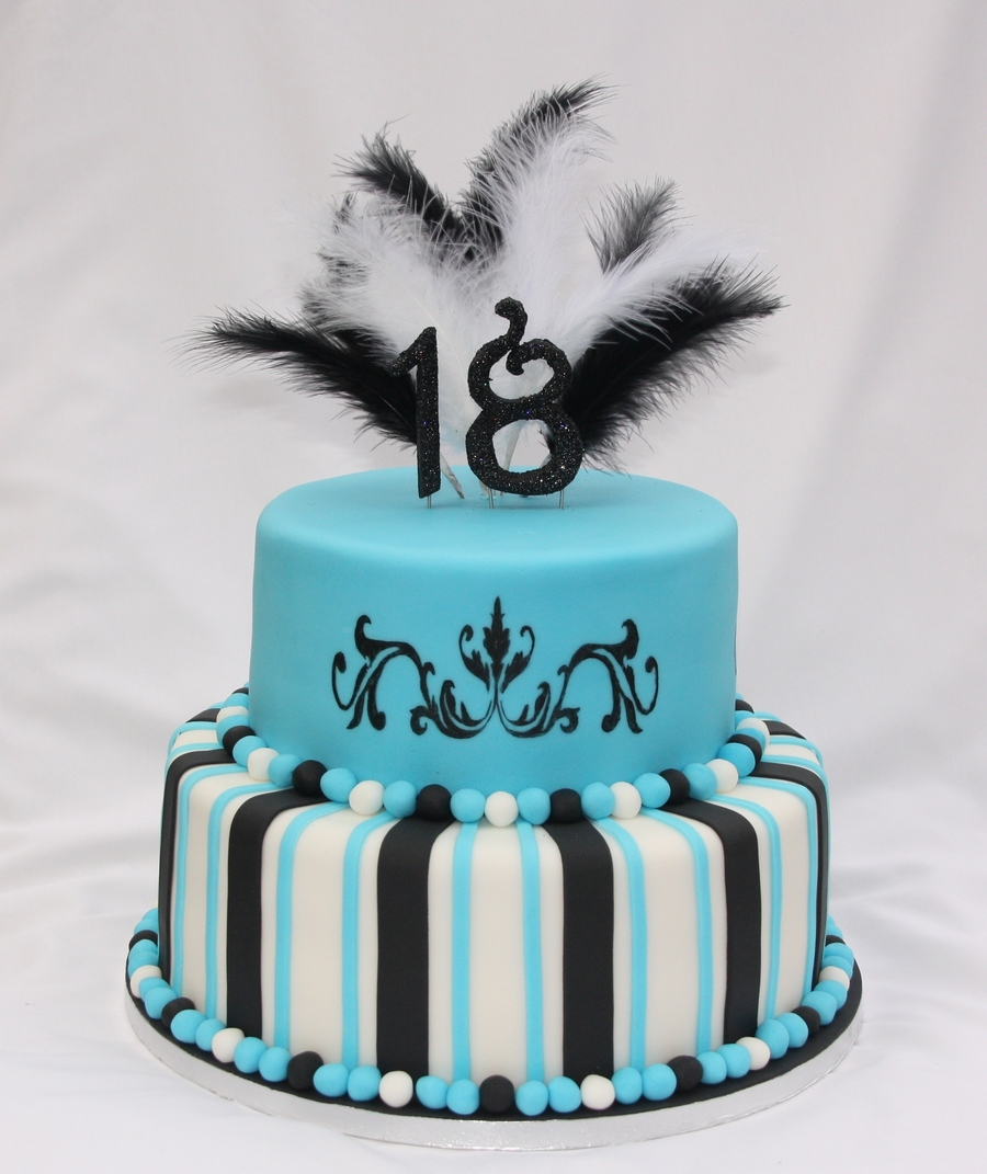 2 Tiered 18th Birthday Cake Cakecentral