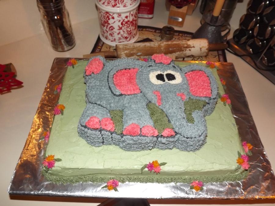 Elephant Baby Shower Cake CakeCentralcom