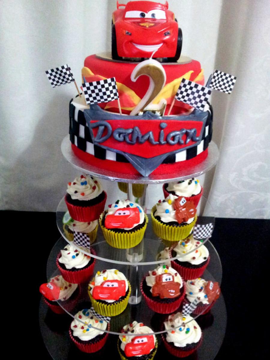 Disney Cars Cake And Cupcakes