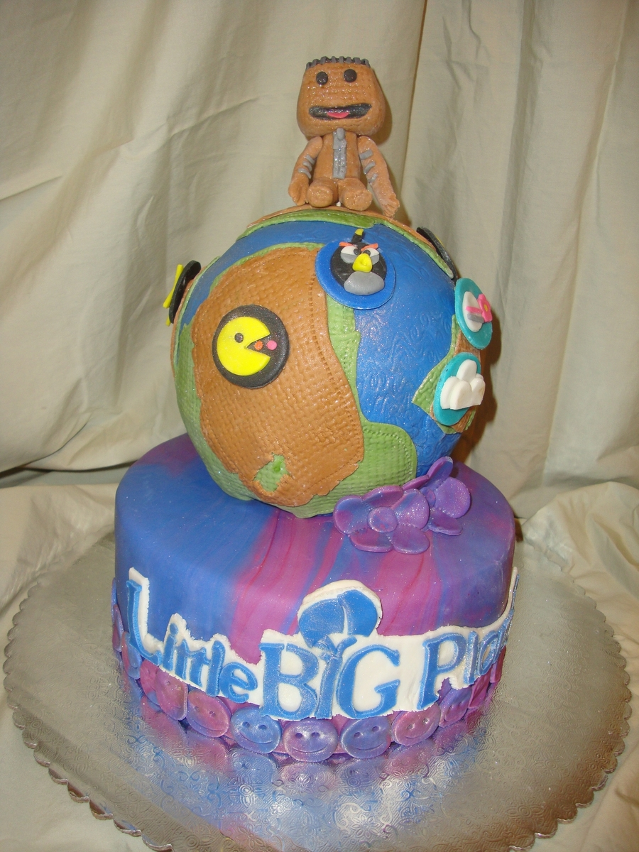 Excellent Little Big Planet Cake Cakecentral Com Birthday Cards Printable Riciscafe Filternl