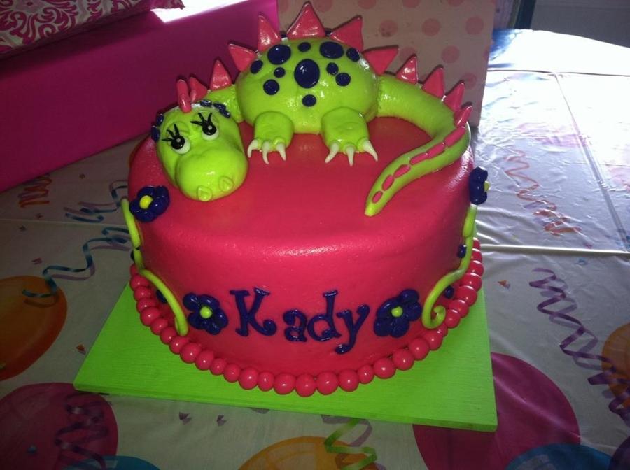Girly Dinosaur Cake Cakecentral Com