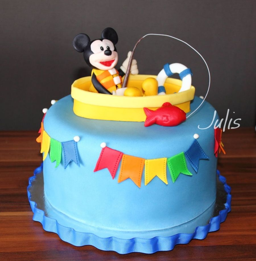 Mickey Mouse Goes Fishing Cake  on Cake Central