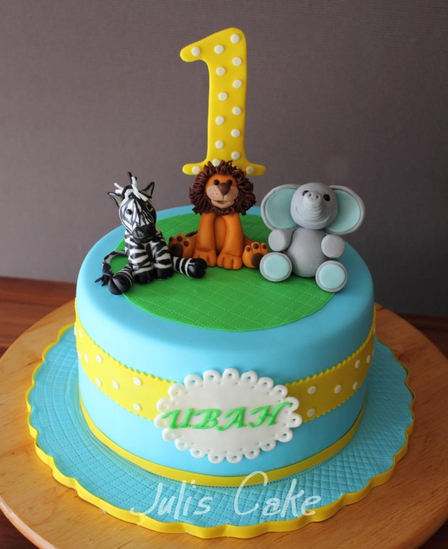 Safari Animals Birthday Cake on Cake Central