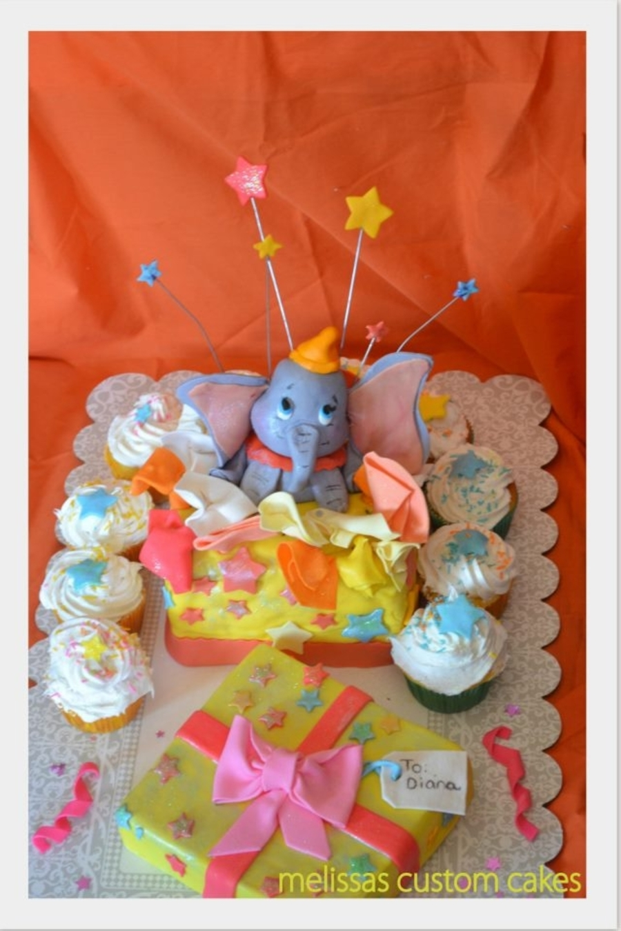 Dumbo Inspired Cake on Cake Central