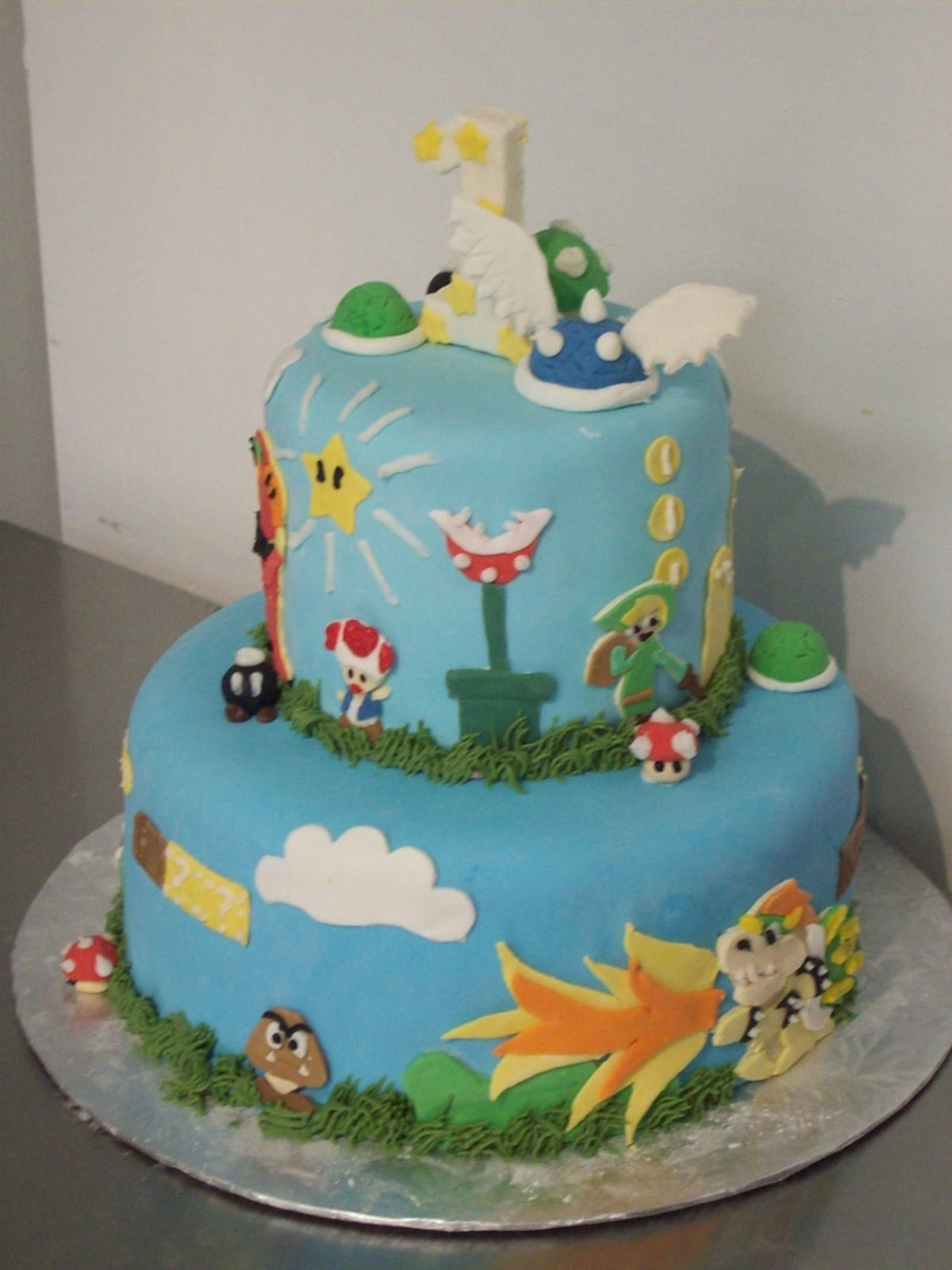Mario Themed Cake  on Cake Central