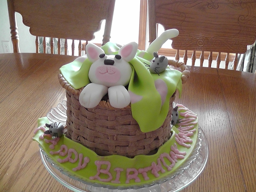 Kitten And Mice Birthday Cake Cakecentral