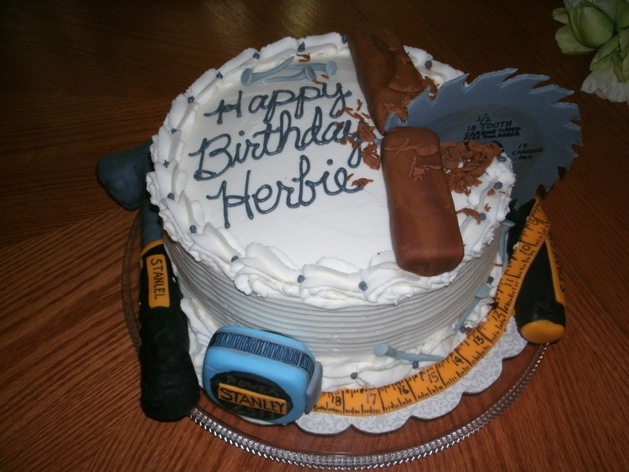Excellent Tool Man Birthday Cake Cakecentral Com Personalised Birthday Cards Paralily Jamesorg