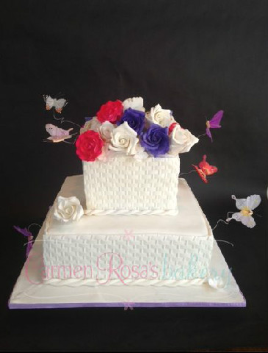 Basketweave Butterflypng on Cake Central
