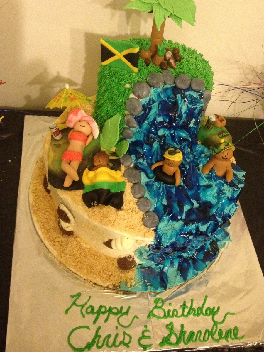Magnificent Jamaica Beach Cake Cakecentral Com Funny Birthday Cards Online Overcheapnameinfo