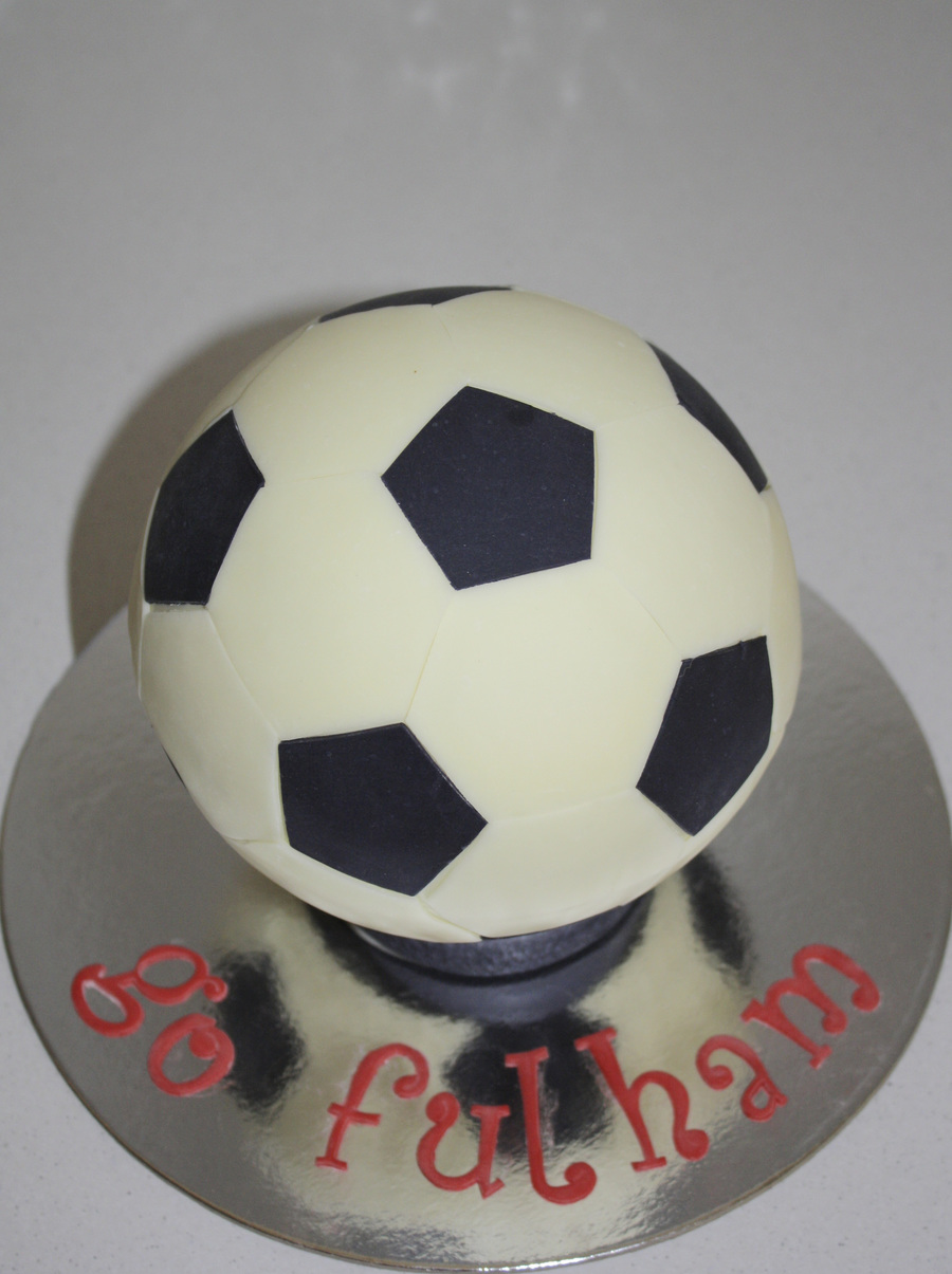 Chocolate Soccer Ball on Cake Central