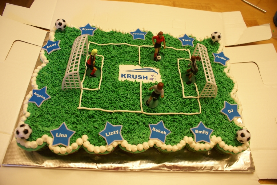 Soccer Cupcake Cake on Cake Central