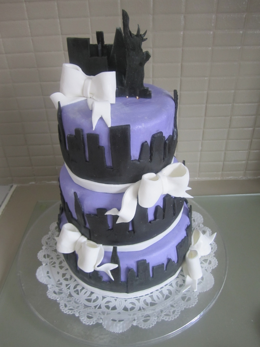 Ny Skyline Sweet Sixteen on Cake Central